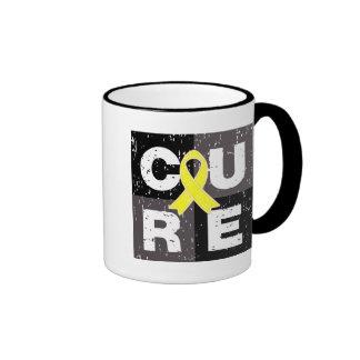 CURE Ewings Sarcoma Distressed Cube Mugs