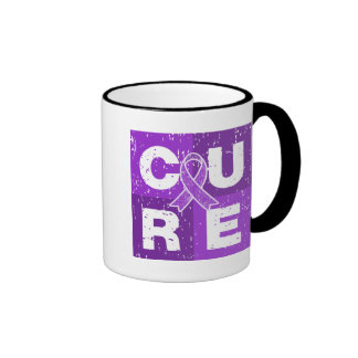 CURE Fibromyalgia Distressed Cube Ringer Mug