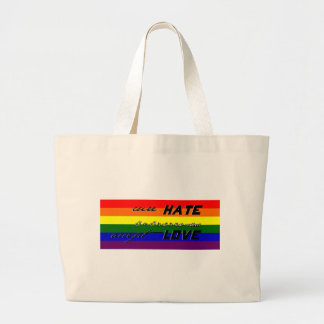 Cure Hate Canvas Bags