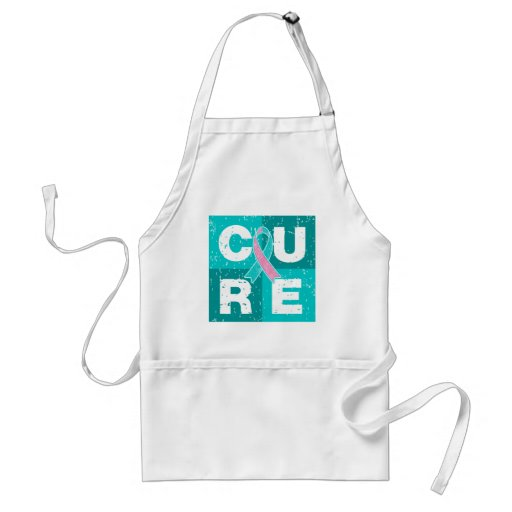CURE Hereditary Breast Cancer Distressed Cube Apron
