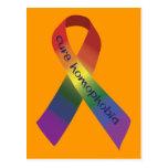 Cure Homophobia Awareness Ribbon