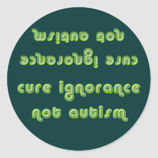 Cure Ignorance Green Stickers