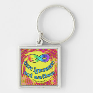 Cure Ignorance Not Autism Keychain
