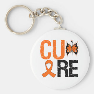 Cure Kidney Cancer (Orange Ribbon) Basic Round Button Key Ring