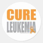 Cure Leukaemia Round Stickers