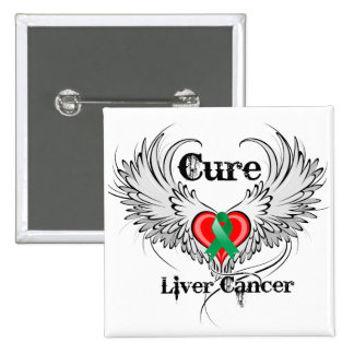 Cure Liver Cancer Heart Tattoo Wings 15 Cm Square Badge