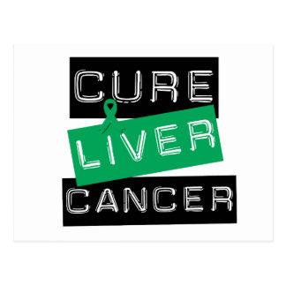 Cure Liver Cancer Postcard