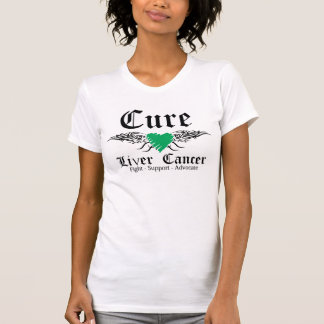 Cure Liver Cancer Tattoo Wings Tshirts