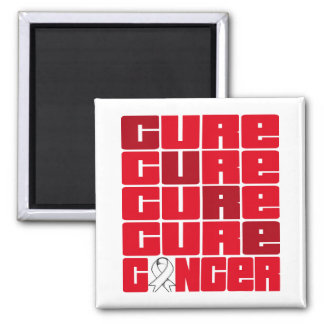 CURE Lung Cancer Collage Fridge Magnets