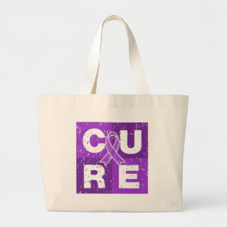 CURE Lupus Distressed Cube Tote Bag