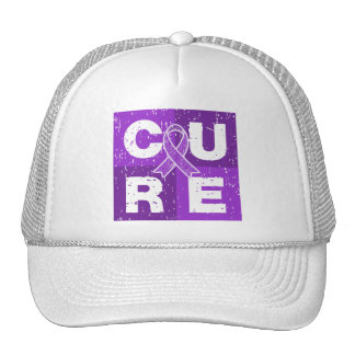 CURE Lupus Distressed Cube Trucker Hat