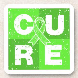 CURE Lyme Disease Distressed Cube Beverage Coasters