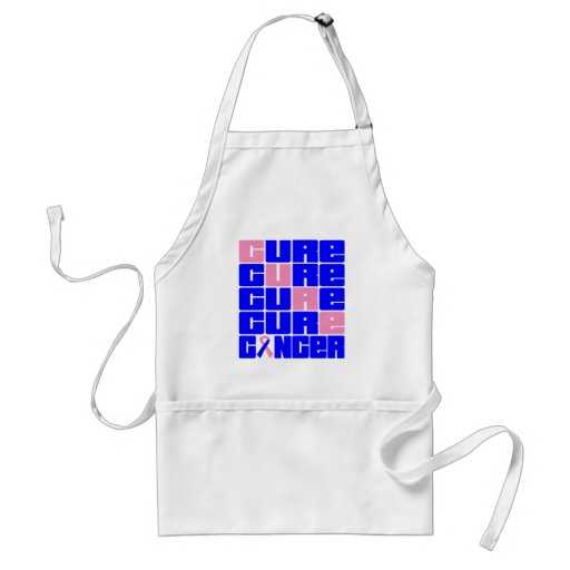 CURE Male Breast Cancer Collage Aprons