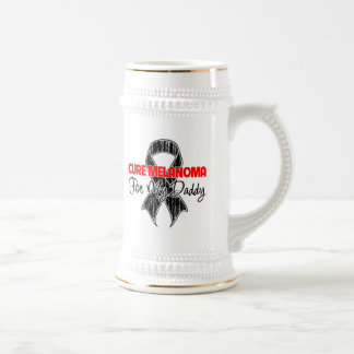 Cure Melanoma For My Daddy 18 Oz Beer Stein