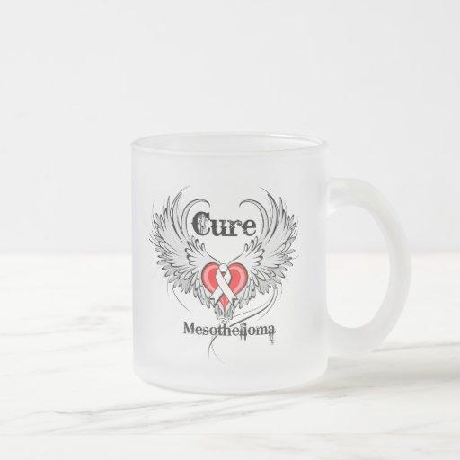 Cure Mesothelioma Heart Tattoo Wings Coffee Mug