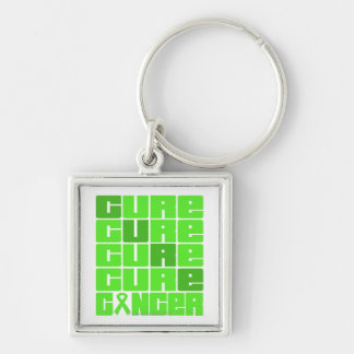 CURE Non-Hodgkins Lymphoma Collage Silver-Colored Square Key Ring