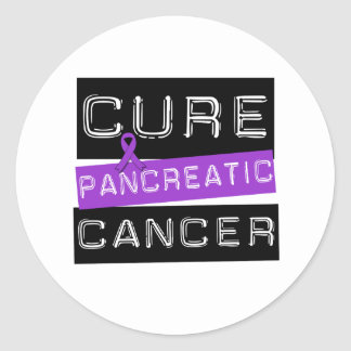 Cure Pancreatic Cancer Classic Round Sticker