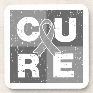 CURE Parkinson's Disease Distressed Cube Beverage Coasters