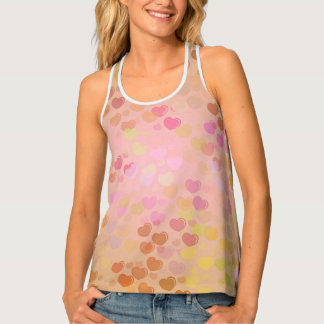 Cure pastel color hearts Tank Top