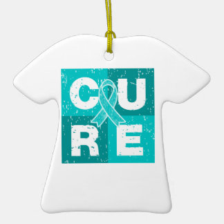 CURE PCOS Distressed Cube Ornament