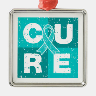 CURE PCOS Distressed Cube Christmas Tree Ornaments