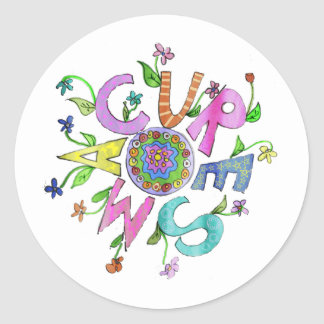 Cure SMA Flower Power 2 Classic Round Sticker