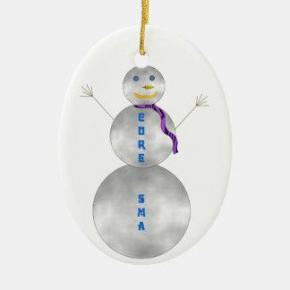 Cure SMA Snowman Ornament