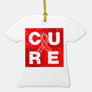 CURE Stroke Distressed Cube Christmas Ornament