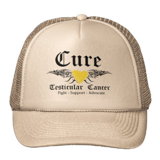 Cure Testicular Cancer Tattoo Wings Hat