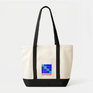 CURE Thyroid Cancer Collage Impulse Tote Bag
