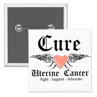 Cure Uterine Cancer Tattoo Wings 15 Cm Square Badge