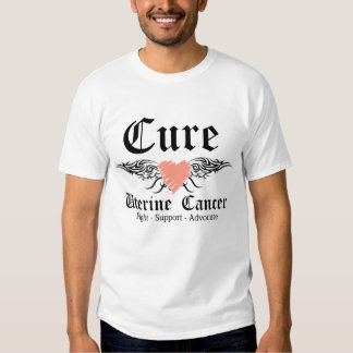 Cure Uterine Cancer Tattoo Wings Shirt