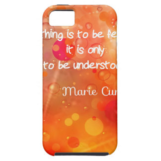 Curie's quote in English Case For The iPhone 5