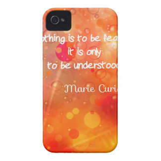 Curie's quote in English iPhone 4 Cover