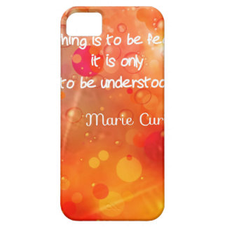 Curie's quote in English iPhone 5 Case
