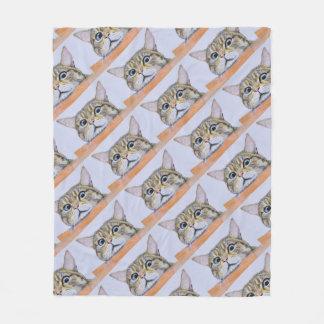 Curiosity Cat Fleece Blanket