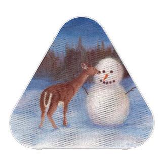Curiosity Deer and Snowman