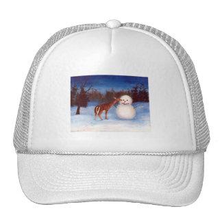 Curiosity Deer and Snowman Hat