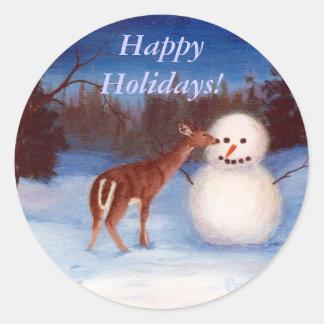 Curiosity Holiday Sticker