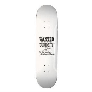 Curiosity Killed the Cat -Custom Background Color Skateboard