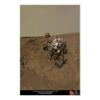 Curiosity Rover at John Klein Site Poster