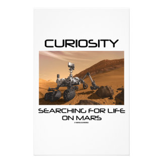 Curiosity Searching For Life On Mars (Mars Rover) Stationery Design
