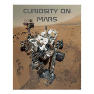 Curiosity Self-Portrait on Mars Poster