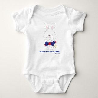 Curiosity White Rabbit Alice in Wonderland Baby T Shirt