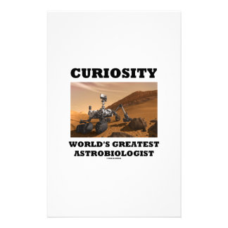 Curiosity World's Greatest Astrobiologist (Rover) Customized Stationery