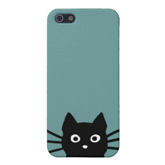 Curious Black Cat iPhone 5 Cover