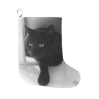 Curious Black Cat Stocking