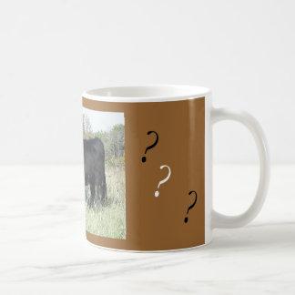 Curious Black Cow Mug