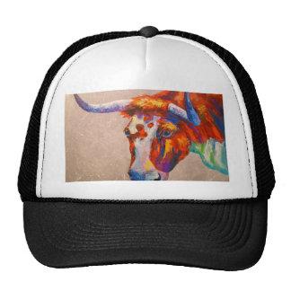 Curious bull cap