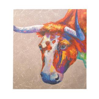 Curious bull notepad